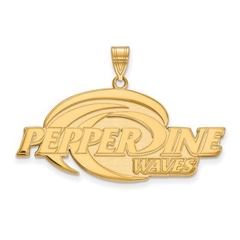 Gold-Plated Sterling Silver Pepperdine University NCAA Pendant