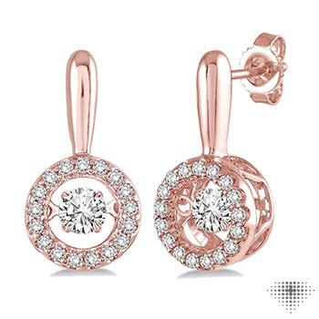 Circle Shape Emotion Diamond Earrings