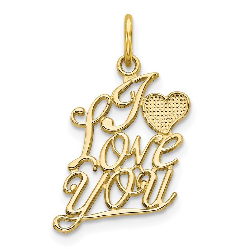 Quality Gold 10K I LOVE YOU Charm