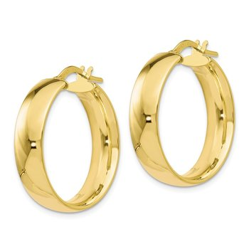 Leslie's 10K 6mm Polished Hoop Earrings