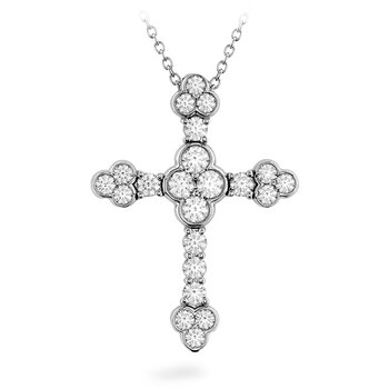 1.1 ctw. Effervescence Diamond Cross Pendant