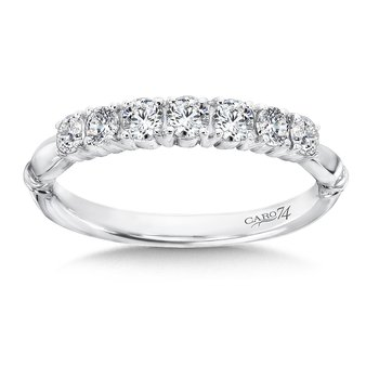 CARO 74 Diamond Anniversary Band in 14K White Gold