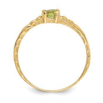 14k Madi K 3mm Peridot Birthstone Baby Ring