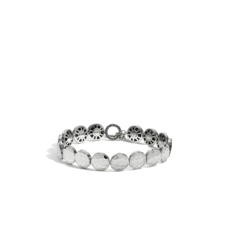JOHN HARDY Dot 10.5MM Link Bracelet in Hammered Silver