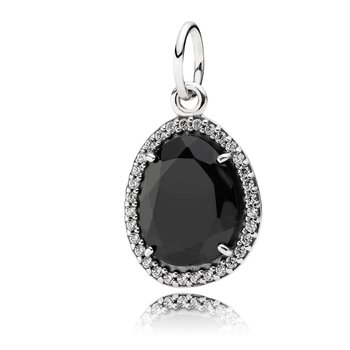 Glamorous legacy, black spinel & clear cz