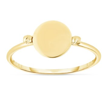 14K Gold Polished Disc Ring
