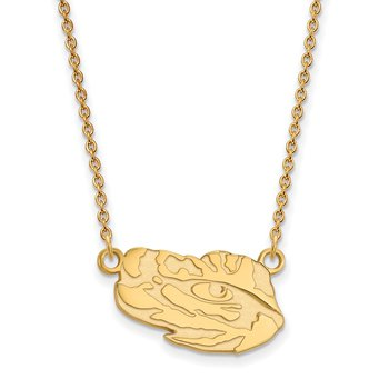 Gold-Plated Sterling Silver Louisiana State University NCAA Necklace