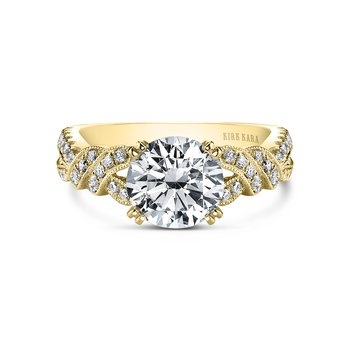Twisted Joyful Diamond Engagement Ring