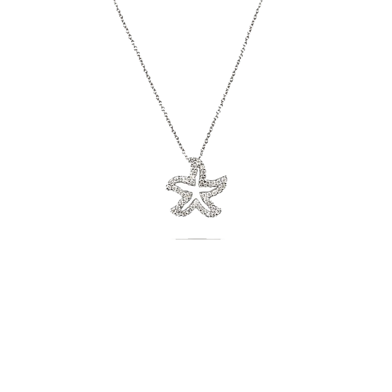 Roberto Coin 18Kt White Gold Diamond Starfish Pendant