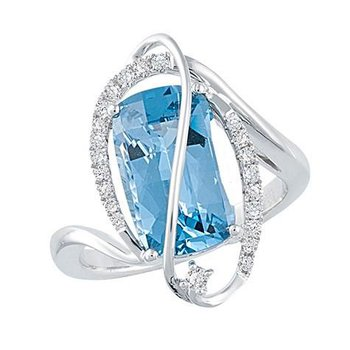 Aqua Blue Spinel Ring-CR10006WAQ