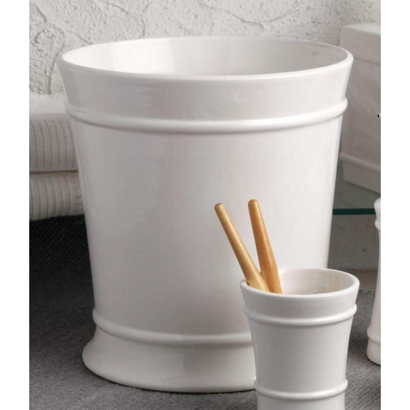 Casafina Waste Basket, White