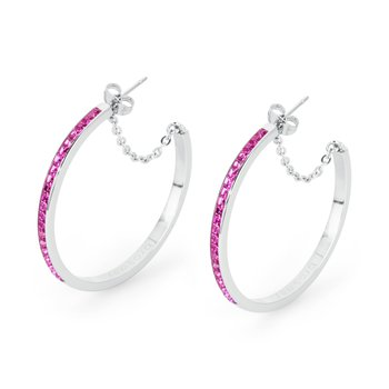 316L stainless steel and fuchsia Swarovski® Elements