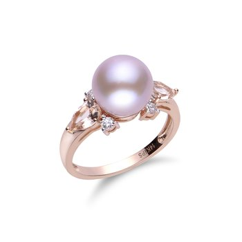 14K Rose Gold Freshwater Pearl Ring