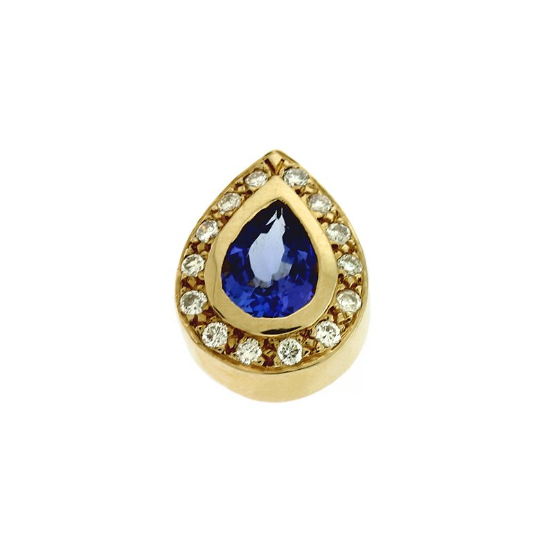 S. Kashi  & Sons Tanzanite./ Diamond Pendant