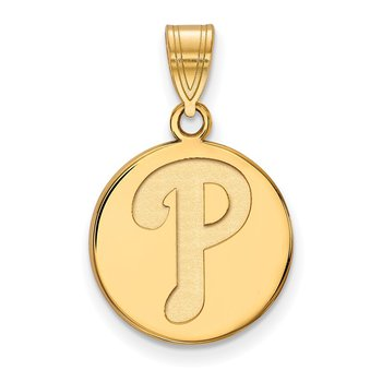 Gold-Plated Sterling Silver Philadelphia Phillies MLB Pendant