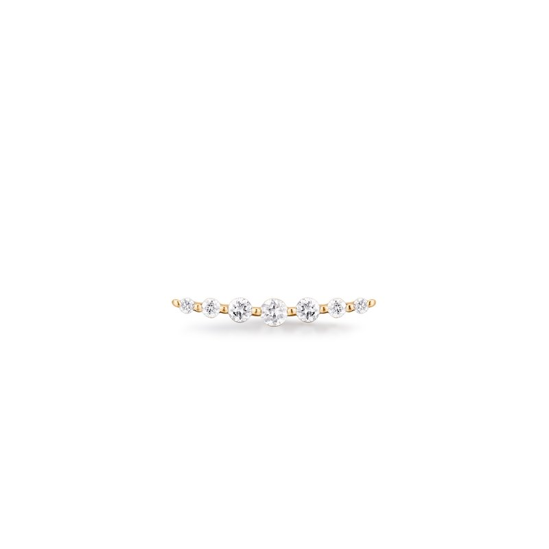 Aurelie Gi MONICA | Single Diamond Bar Stud