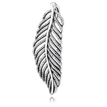 Light As A Feather Pendant, Clear CZ