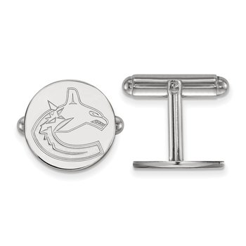 Sterling Silver Vancouver Canucks NHL Cuff Links