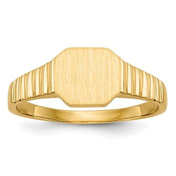 14k 7.5x6.0mm Child's Signet Ring
