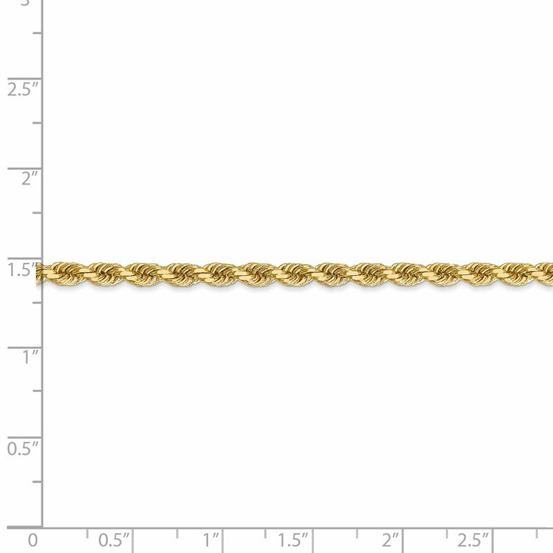 Leslie's Leslie's 14K 3.5mm Diamond-Cut Lightweight Rope Chain