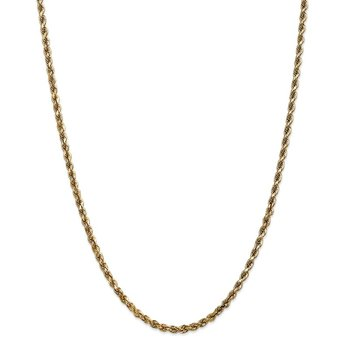 Leslie's 14K 3.5mm Diamond-Cut Lightweight Rope Chain