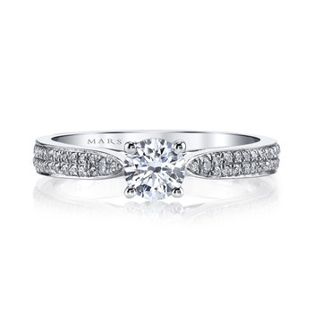 25349 Diamond Engagement Ring 0.24 ct tw