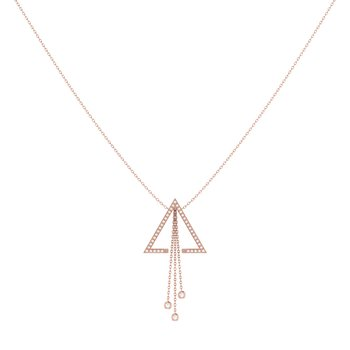 Skyline Lariat Necklace in 14 KT Rose Gold Vermeil on Sterling Silver