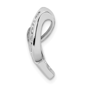 Sterling Silver Rhodium-plated Fancy CZ Slide