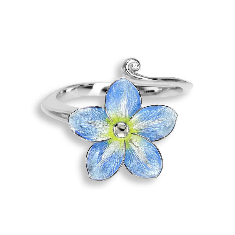 Nicole Barr Designs Blue Forget-Me-Not Ring.Sterling Silver
