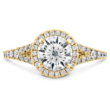 0.4 ctw. Transcend Premier HOF Halo Split Shank Engagement Ring