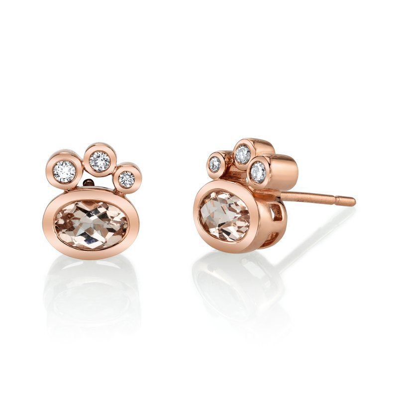 MARS Jewelry MARS 27253 Stud Earrings, 0.10 Dia, 1.38 Morganite