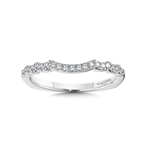 Valina Diamond and 14K White Gold Wedding Ring (0.15 ct. tw.)