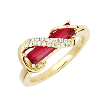 Padparadscha Ring-CR13124YPD
