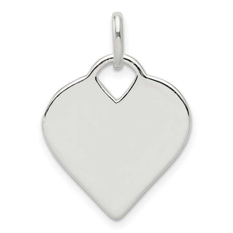 Quality Gold Sterling Silver Polished Heart Charm