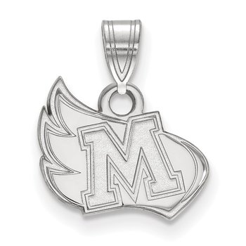 Sterling Silver Meredith College NCAA Pendant