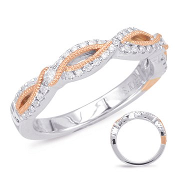Rose & White Gold Matching Band