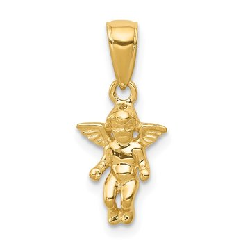 14k 3D Small Guardian Angel Pendant