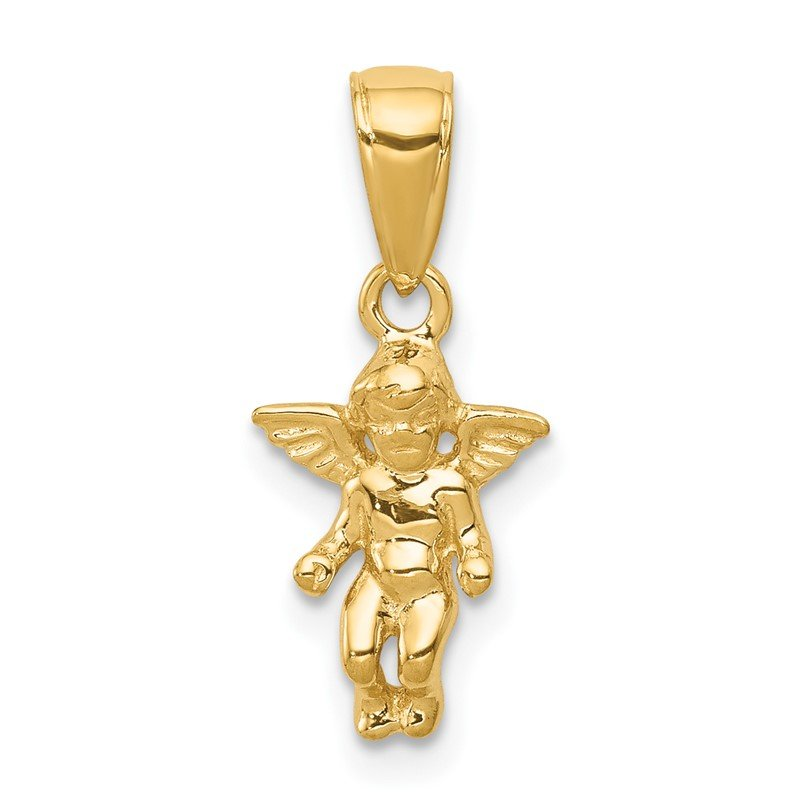 Quality Gold 14k 3D Small Guardian Angel Pendant