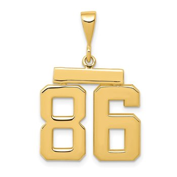 14k Medium Polished Number 86 Charm