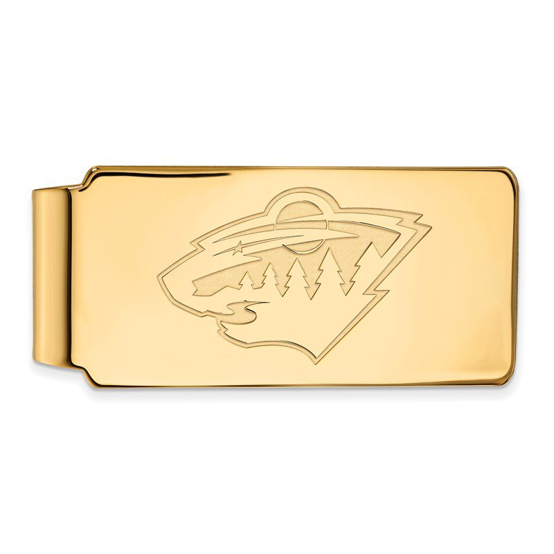 NHL Gold-Plated Sterling Silver Minnesota Wild NHL Money Clip