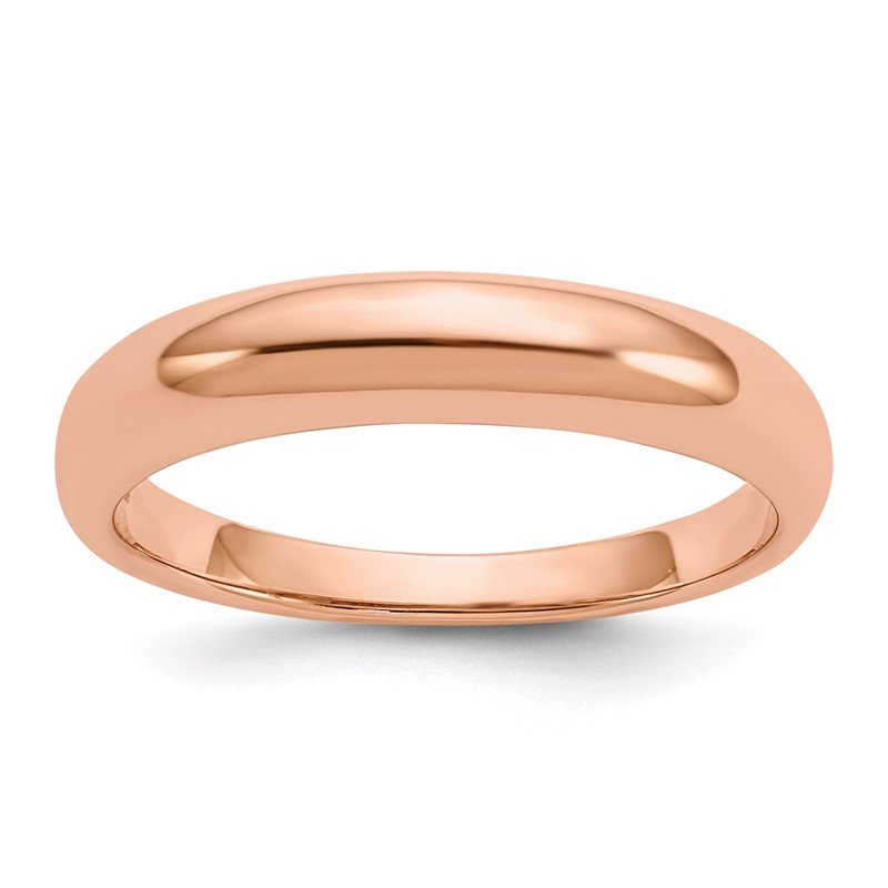 Quality Gold 14k Rose Gold Polished Band Ring