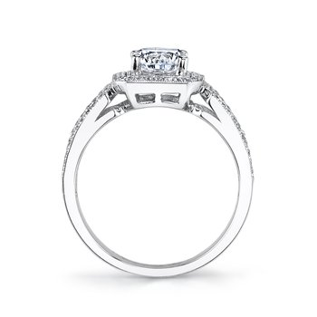 MARS 25098  Diamond Engagement Ring 0.27 Ct Rd, 0.38 Ct Bg.