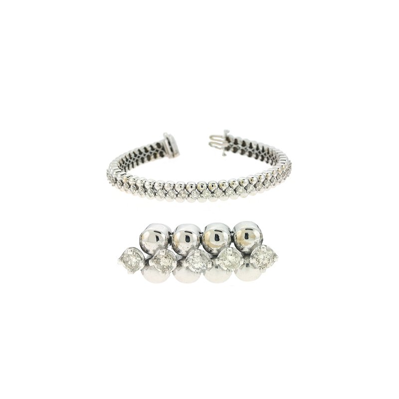 Briana White Gold Tennis Bracelet