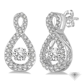 Pear Shape Emotion Diamond Earrings