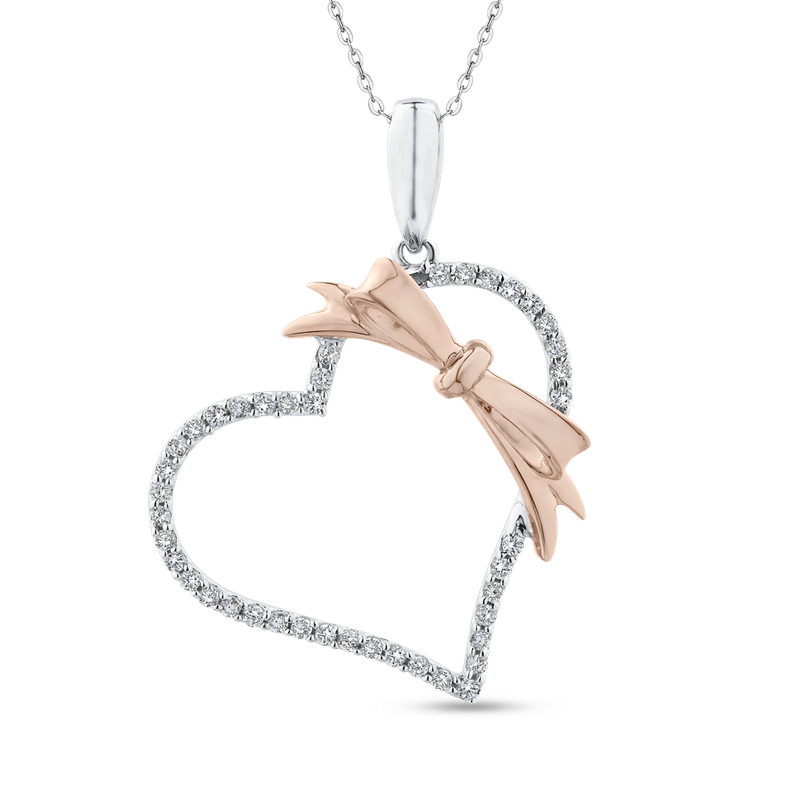 1/3 Ct Diamond Heart Pendant with Chain