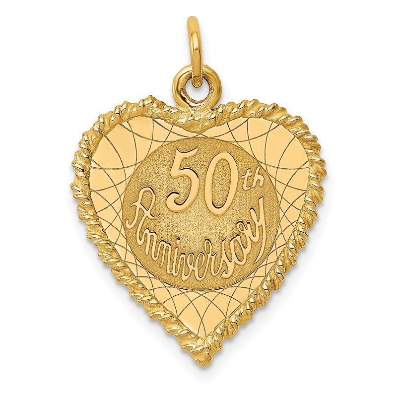 Quality Gold 14K 50th ANNIVERSARY Charm