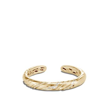 Lahar 9MM Kick Cuff in 18K Gold with Diamonds