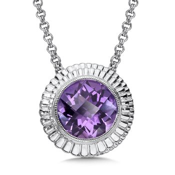 Sterling Silver Amethyst Cairo Pendant