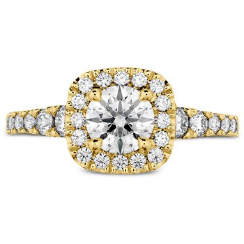 0.69 ctw. Transcend Premier Custom Halo Engagement Ring