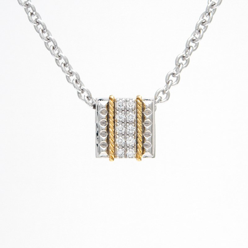 Andrea Candela 18kt and Sterling Silver Diamond Necklace
